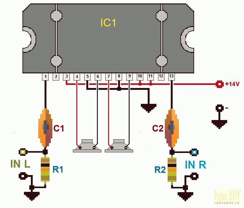 мостовая схема подключения усилителя - Интересные полезности.
