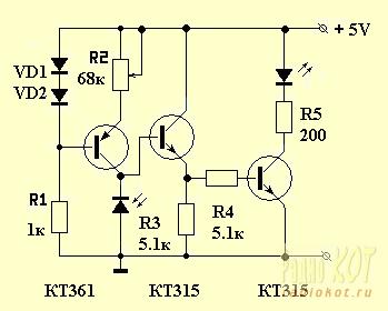 также связано использовать транзистор вместо фотодиода рассечения нижней челюсти
