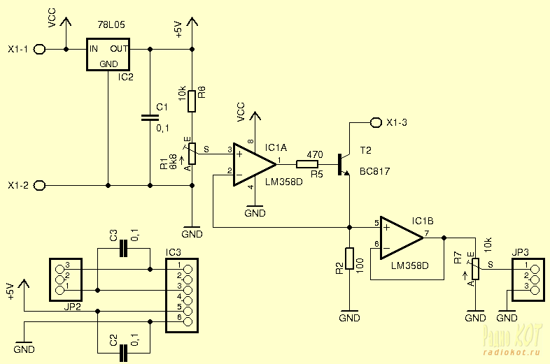 Микросхема LM358 представляет