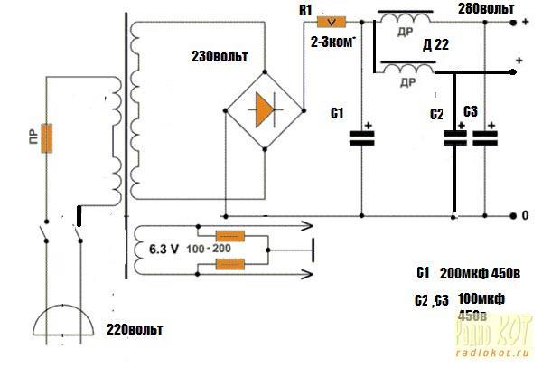 ламповый усилитель на 6ф5п