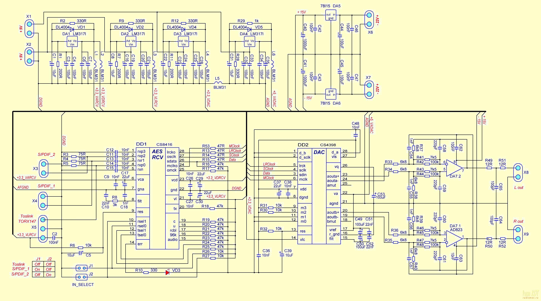 Схема spdif конвертера