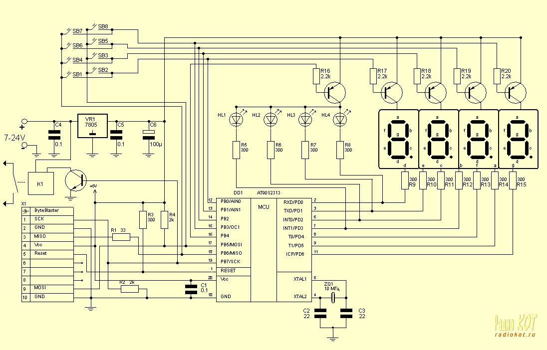 Схемы датчиков.  Датчик тока схема подключения.