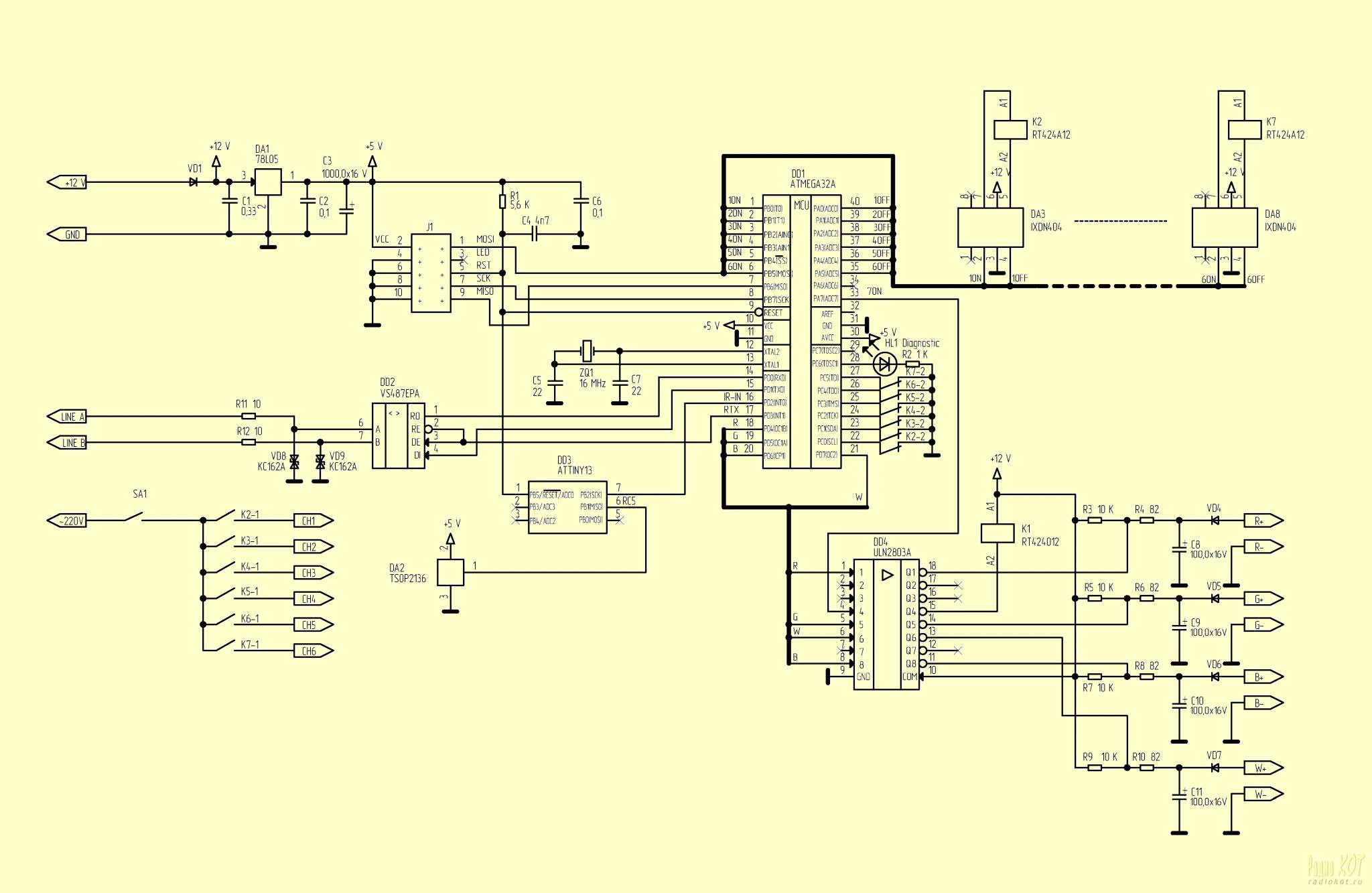Элим снан-10000 схема принципиальная