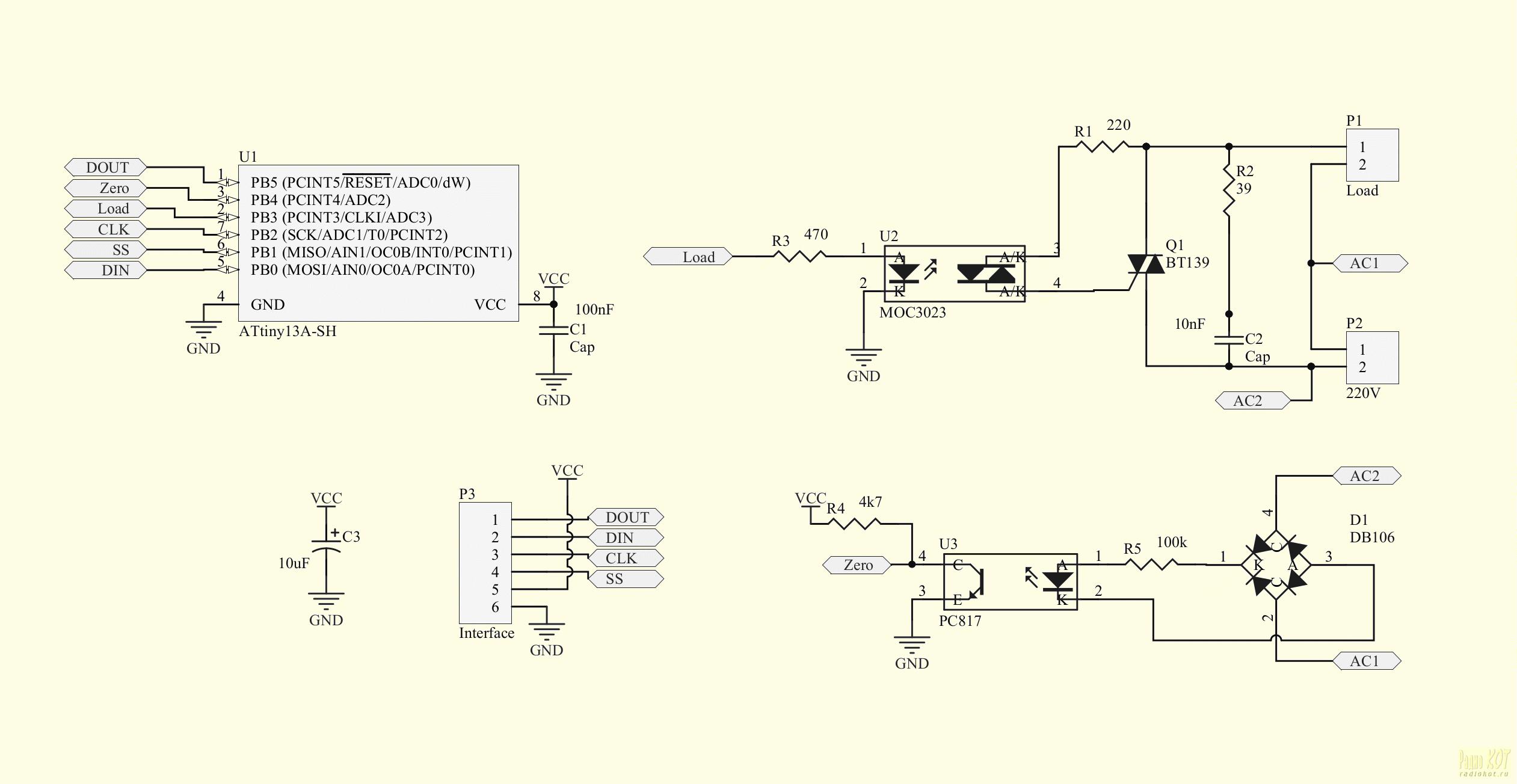 Принципиальные схемы на оптопарах
