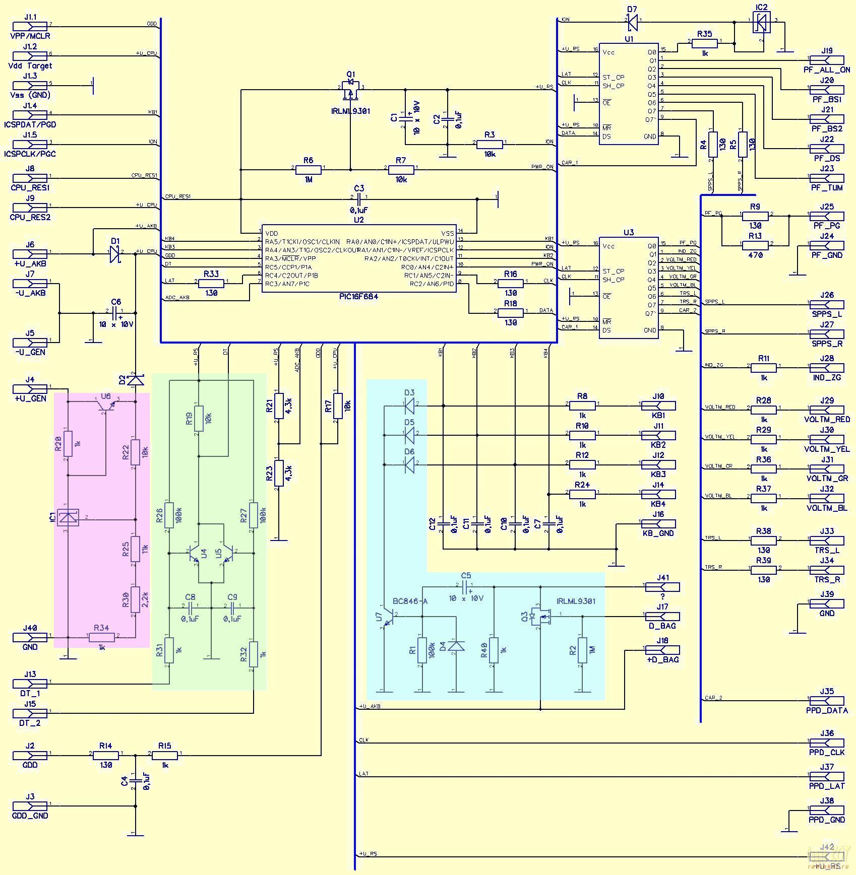 схема мигающие лампочки 9в
