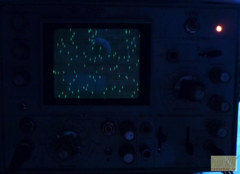 выглядит на экране С1-68: