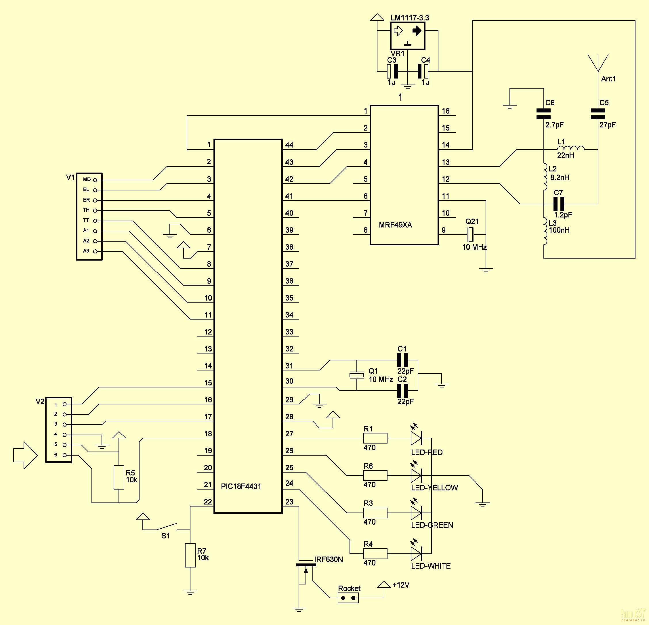 пиротехника пульты схема