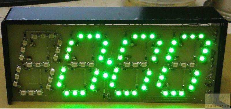 Предлагаю свой вариант простых часов на микроконтроллере PIC16F628A и двух светодиодных драйверов MBI 5026.