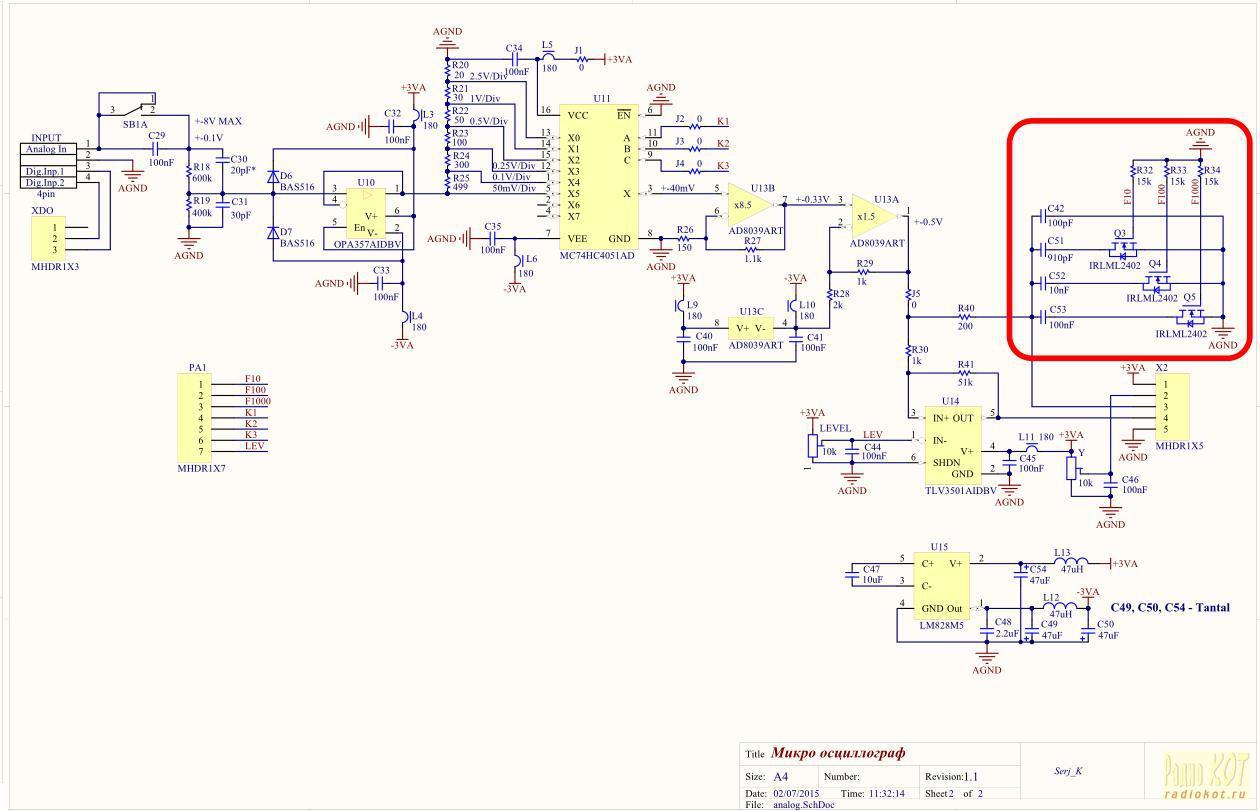 Кварц схема осциллографа