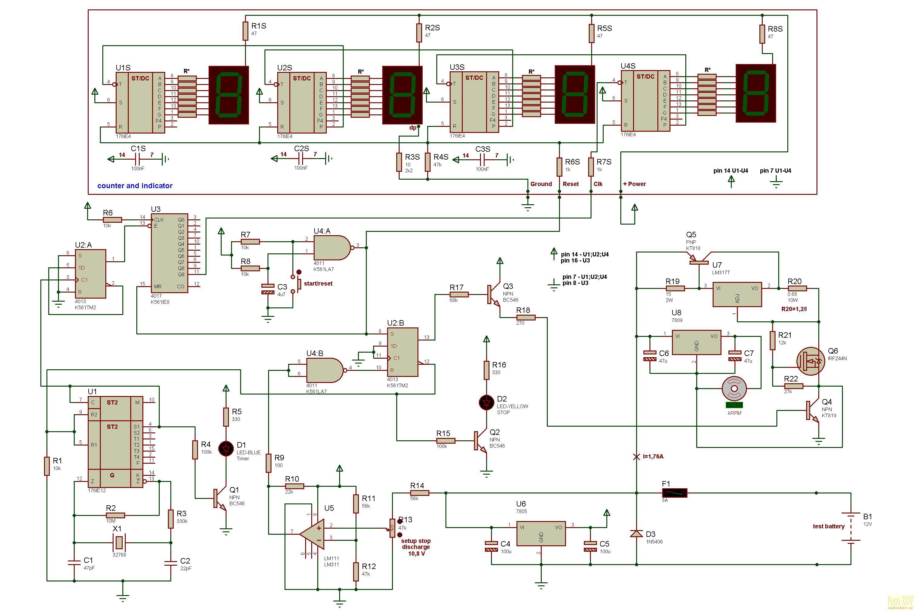 Схема измерителя емкости акб фото 174