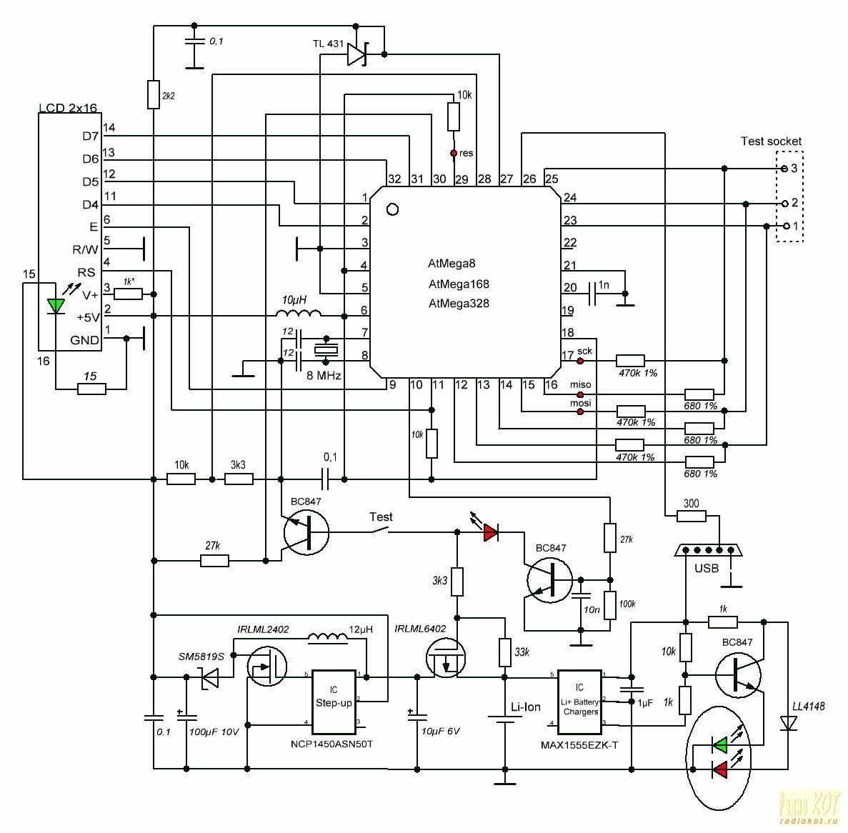 Транзистор тестер на atmega328 своими руками
