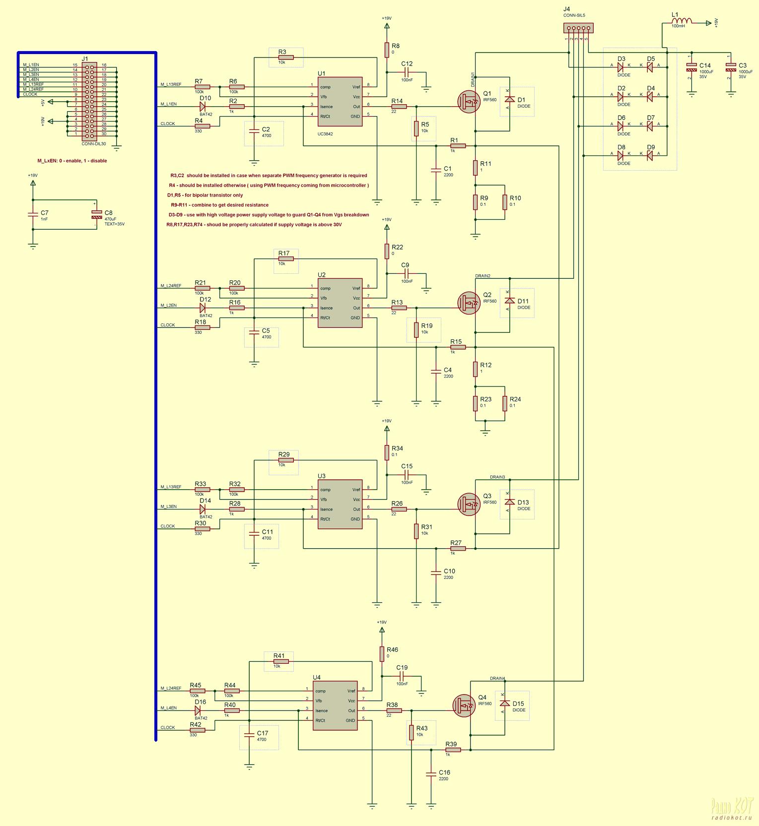 схема управления шаговым двигателем pic16f84