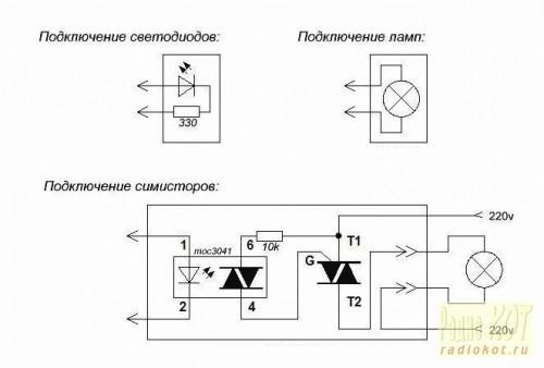 Цветомузыка схема светодиоды монтажная