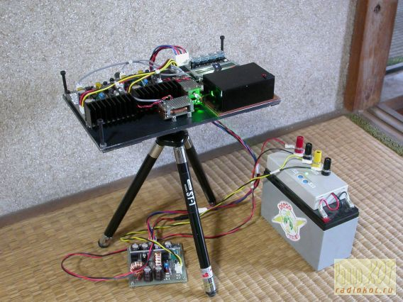 Построенный лазерный проектор