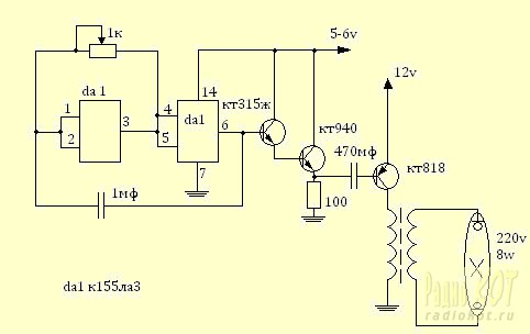 К155ла3 генератор прямоугольных импульсов - 7a