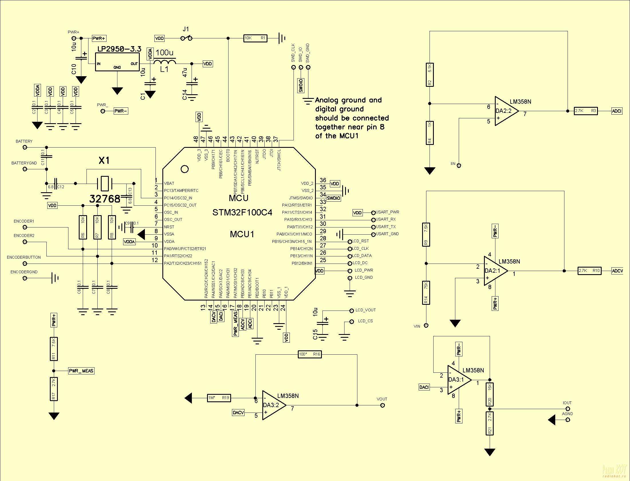 подавление дребезга контактов энкодера схема