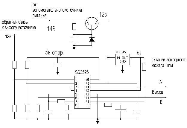 Схемы импульсных источников питания с применением микросхема sg3525.  Технологическая схема производства пшена.