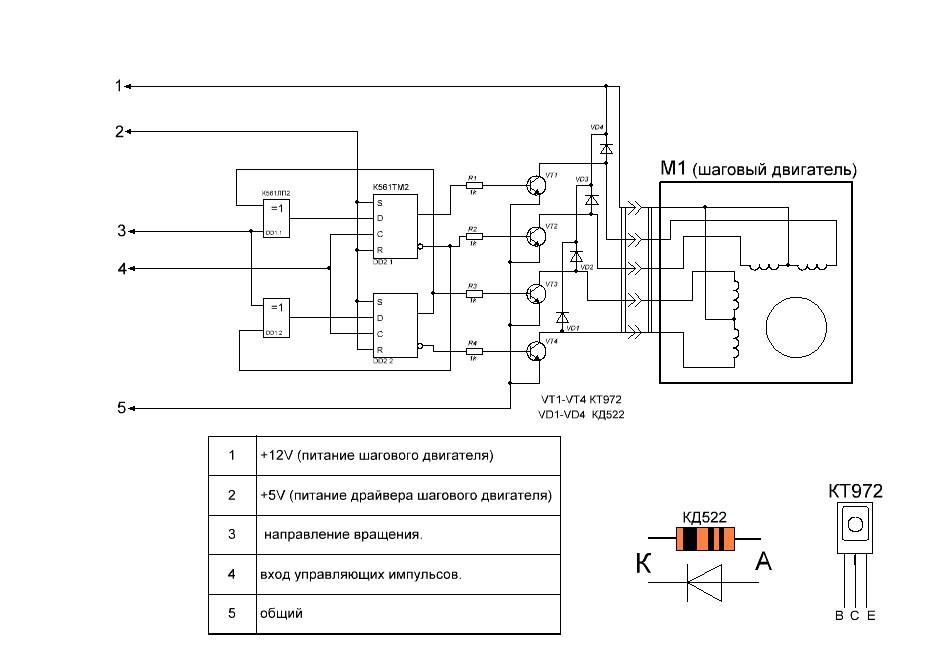 Проверить шаговый двигатель