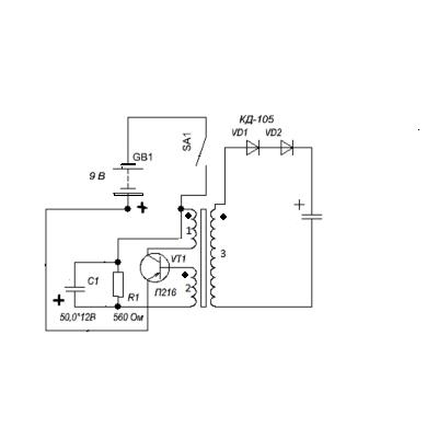 Как сделать преобразователь на одной транзисторе