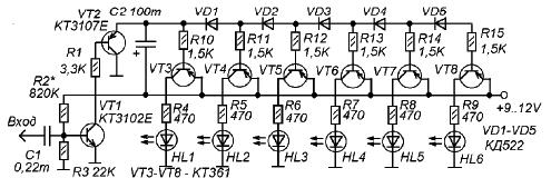 Самодельный индикатор уровня звука своими руками
