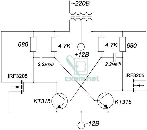 Инвертор 12 в 220 своими руками на транзисторах