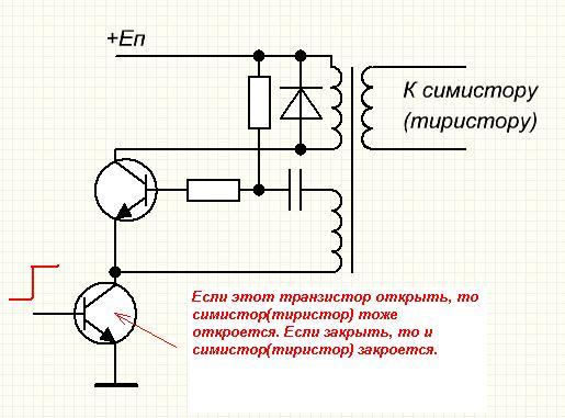 Схема проверки тиристоров большой мощности