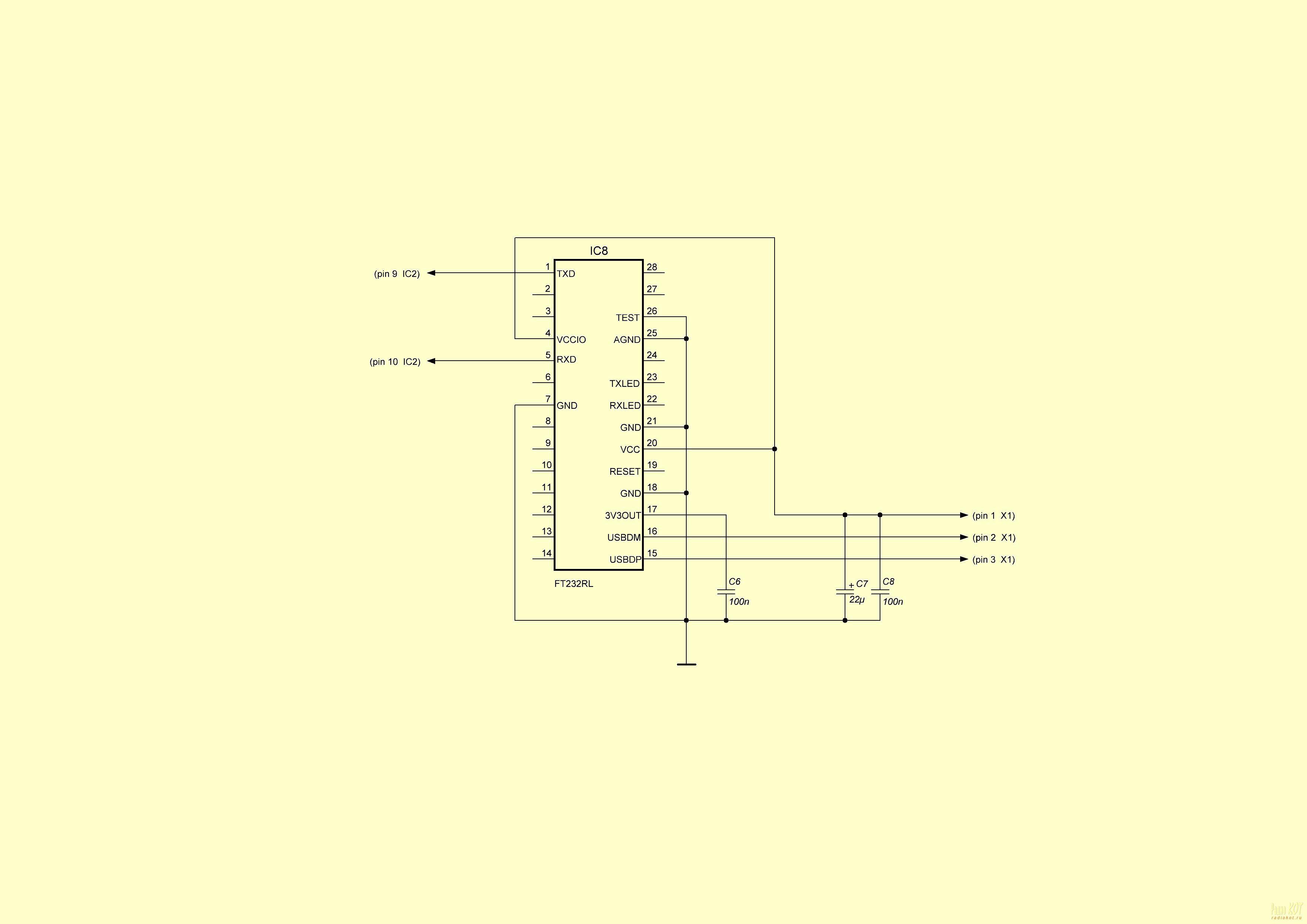 схема бегущая строка на светодиодных матрицах 8х8