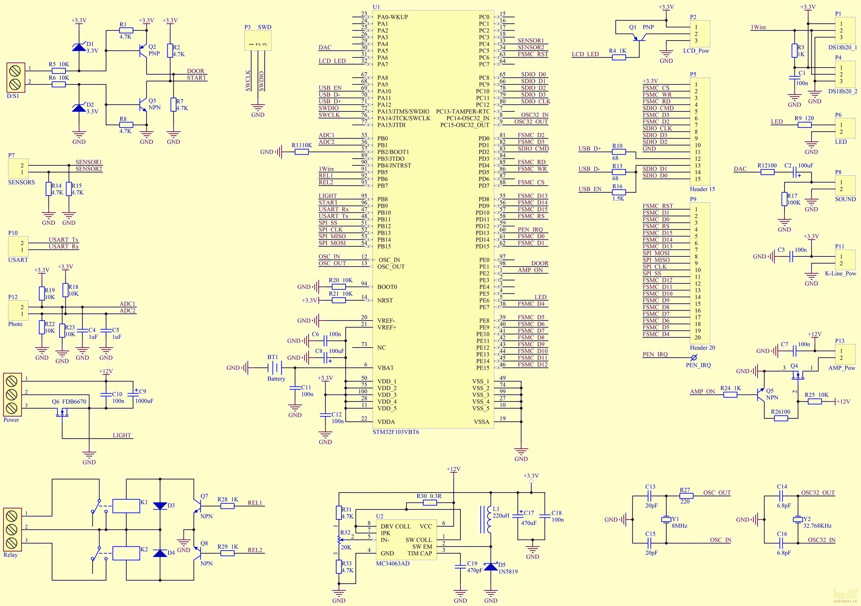 схема бортового компьютера автомобиля
