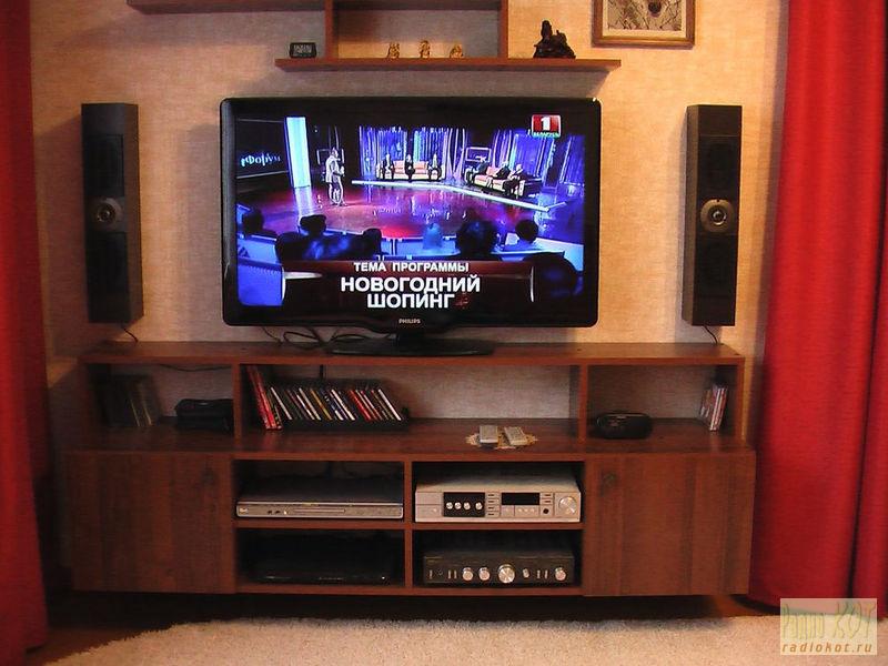 Своими руками полочка для телевизора
