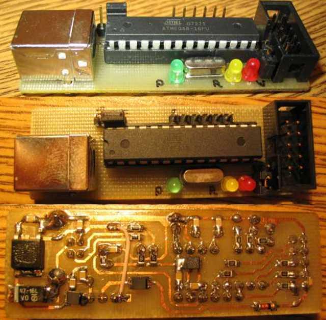 AVR910-совместимого USB программатора.