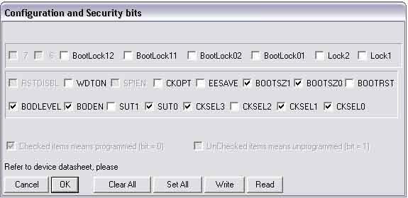 Выставление фьюзов в AVR