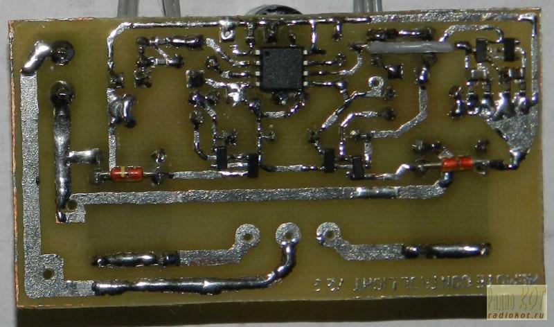 Принципиальная схема блока управления люстрой с шестью лампами .  Напряжение 12в .
