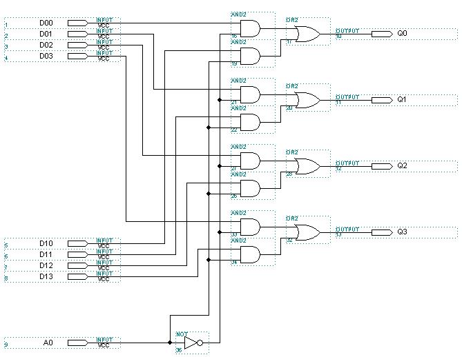 Схема мультиплексора