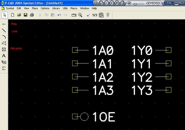 P-cad, разработка компонента для программатора byte-blaster.